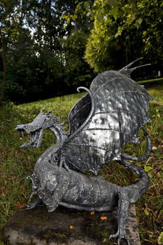 Steel Dragon Sculpture