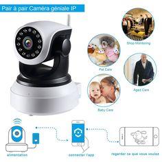 NexGadget IP Cámara HD WiFi de Vigilancia Interior Detección Movimiento conVisión Nocturna EUR 36,48 Este
