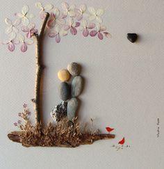 Unique WEDDING Gift, Customized Wedding Gift Pebble Art by MedhaRode