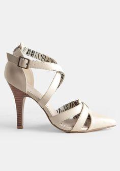Short Stop Strappy Heels $58