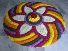 Beautiful Indian rangoli designs for Diwali form an important part of decorations. We have shortlisted some gorgeous Indian designs for you. Indian Rangoli Designs, Rangoli Designs Latest, Simple Rangoli Designs Images, Rangoli Designs Flower, Rangoli Patterns, Rangoli Ideas, Rangoli Designs With Dots, Flower Rangoli, Beautiful Rangoli Designs
