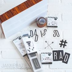 Father's Day Decor | Make use of the Heidi Swapp Lightbox to give Dad focus for