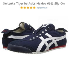 Onitsuka tiger by asics mexico 66 slip on navy off white b9e202e467434