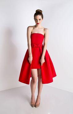 Strapless Convertible Silk Faille Cocktail Dress