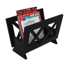 Modern mahogany wooden magazine rack