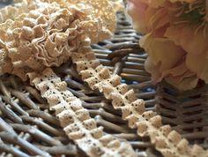 1 yard 1.5 cm wide crochet ruffled elastic maroon lace trim I Maroon lace trim I Ruffled lace trim I Crochet lace trim I Lace trim I DIY by SixthCraft on Etsy