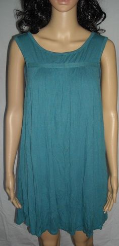 "$10.99 Old Navy Size M Fits up to a 40""Bust Cute and Fun to Wear Blue Cotton Mini Dress #OldNavy #Sundress #Casual"