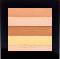 "Revlon Highlighting Palette  {Featured in Good Housekeeping :: ""Swirl your brush through this shimmer combo for a skin-perfecting pick-me-up.  Plus, it's neutral shades can double as eye shadows.""}"