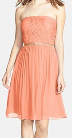 belted chiffon dress in peach fuzz  http://rstyle.me/n/ff6rhpdpe