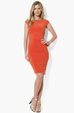 Lauren Ralph Lauren Bateau Neck Jersey Dress available at #Nordstrom. Gotta have