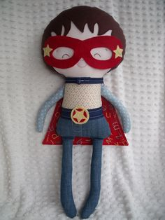 Super hero doll made by me using a Dolls and Daydreams pattern