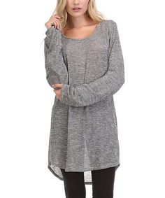 Look at this A La Tzarina Low Gage Hi-Low Tunic on #zulily today!