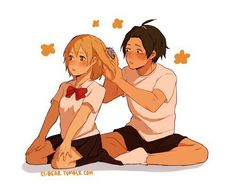 Shared by rosie rudy. Find images and videos about cute, anime and haikyuu on We Heart It - the app to get lost in what you love. Haikyuu Funny, Haikyuu Fanart, Haikyuu Ships, Haikyuu Anime, Hinata, Haikyuu Volleyball, Volleyball Anime, Kagehina, Yamaguchi Tadashi