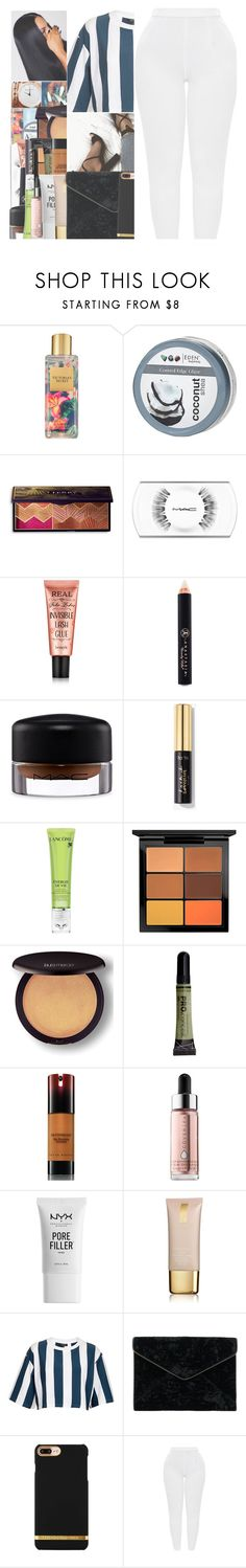 """Untitled #79"" by w-on-der-lan-d ❤ liked on Polyvore featuring Victoria's Secret, By Terry, Anastasia Beverly Hills, MAC Cosmetics, Lancôme, Laura Mercier, Kevyn Aucoin, Cover FX, NYX and Estée Lauder"