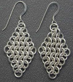 Walkthrough chainmaille earrings | How to Create Jewelry - Mount Jewelry: How to Make and Sell, Step by Step, Ideas and Much more.