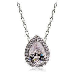 pearshaped diamond. don't like the chain though.
