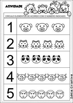 animal number count worksheet (8) | Crafts and Worksheets for Preschool,Toddler and Kindergarten