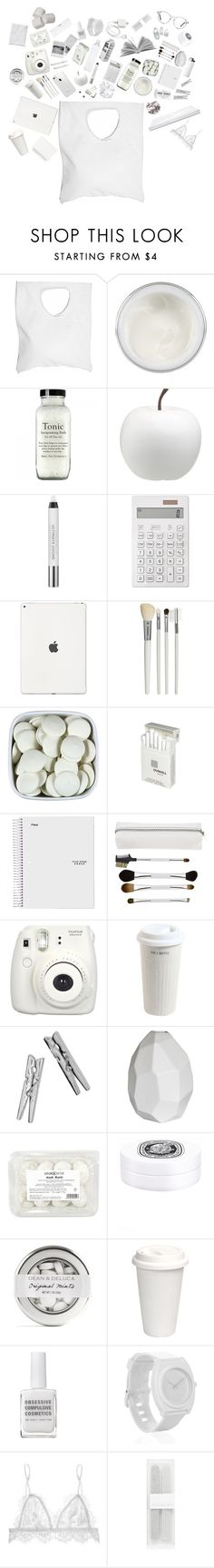 """""""What's in my bag?"""" by xchxara ❤ liked on Polyvore featuring Jennifer Haley, Chantecaille, CB2, Urban Decay, Muji, Cath Kidston, Dunhill, Sonia Kashuk, Mr. Coffee and Monki"""