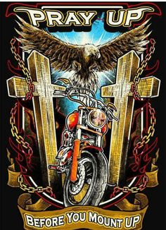 Always pray without ceasing Harley Davidson Kunst, Harley Davidson Engines, Harley Davidson Tattoos, Harley Davidson Motorcycles, Motorcycle Logo, Motorcycle Quotes, Christian Warrior, Christian Art, David Mann Art