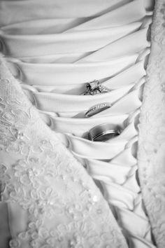 Wedding Rings - Wedding Dress - Ring Shot