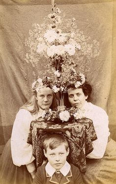 Flower Show - Victorian era photograph