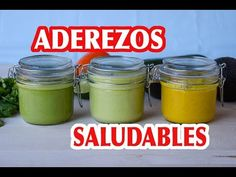ADEREZOS SALUDABLES PARA ENSALADAS | FÁCILES Y DELICIOSOS - YouTube - Caro Baezb Cilantro Dressing, Salad Dressing, Cooking Recipes, Healthy Recipes, Healthy Food, Juice Plus, Food Humor, Pesto, Food And Drink