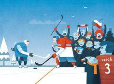 Czech olympics Winter 2014 by Daniel Spacek, via Behance