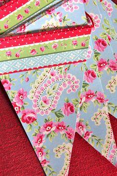 Paisley paper bunting