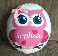 Personalized Beautiful Sweet Owl Girl Plush by DecorHomeFabric