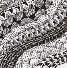 Diva challenge ~stripes Mandala Doodle, Tangle Doodle, Tangle Art, Doodles Zentangles, Zen Doodle, Mandala Art, Doodle Art, Doodle Ideas, Doodle Patterns