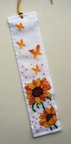 Permin Sunflowers & Butterflies bookmark.