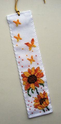 Permin Sunflowers & Butterflies bookmark.