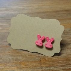 Hey, I found this really awesome Etsy listing at https://www.etsy.com/listing/183859628/hot-pink-bunny-earrings-for-easter-happy