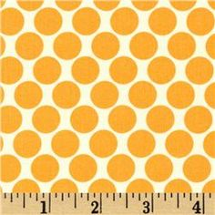 Amy Butler Lotus Full Moon Polka Dot Orange want it in teal or grey Fabric Patterns, Print Patterns, Pattern Ideas, Polka Dot Fabric, Polka Dots, Amy Butler Fabric, Free Pattern Download, Lotus, Knitting Books