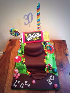 Charlie and the chocolate factory cake 30 Birthday Cake, Birthday Ideas, Birthday Parties, Charlie Chocolate Factory, Jack Daniels Fudge, Whisky Tasting, Willy Wonka, Cake Boss, Tarts
