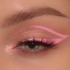 Dope Makeup, Indie Makeup, Edgy Makeup, Makeup Eye Looks, Eye Makeup Art, Pink Makeup, Pretty Makeup, Eyeshadow Makeup, Bronzer Makeup