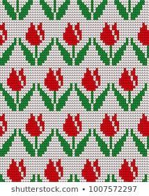 knitted winter flower pattern vector knitwear pattern - That's It Tiny Cross Stitch, Cross Stitch Flowers, Cross Stitch Designs, Cross Stitch Patterns, Knitting Charts, Knitting Patterns, Cross Stitching, Cross Stitch Embroidery, Tapestry Crochet Patterns