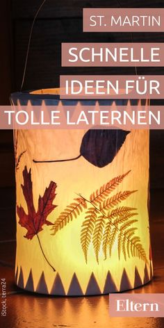 Obvious: DIY ideas for great lanterns- Einleuchtend: DIY-Ideen für tolle Laternen Making lanterns yourself is really quick. Empty the milk carton and most of the work is already done. Diy Crafts For Kids, Arts And Crafts, Chinese Paper Lanterns, How To Make Lanterns, Autumn Crafts, Baby Scrapbook, Yarn Crafts, Halloween Diy, Autumn Leaves