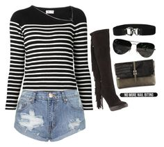 """""""Will the sun come out?"""" by mad-one ❤ liked on Polyvore featuring Bershka, Burberry, Yves Saint Laurent, Topshop, Neiman Marcus, Ray-Ban and Lauren Ralph Lauren"""