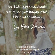 In the words of an egg donor...