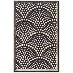 Zipcode Design Allyson Wool Scallop Hand-Tufted Navy Area Rug Rug Size: 8' x 11'