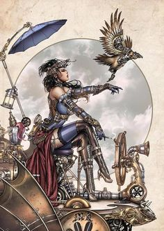 Artist of the Week: Mike Krome Lady Mechanika. Arma Steampunk, Steampunk Kunst, Steampunk Artwork, Mode Steampunk, Steampunk Design, Gothic Steampunk, Steampunk Fashion, Steampunk Drawing, Steampunk Clothing