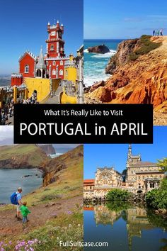 What is it like to visit Portugal in April. Plus seasonal travel tips for Portugal in spring. Portugal In April, Visit Portugal, Travel Info, Travel Tips, Family Travel, Travel Inspiration, Suitcase, Travel Destinations, Europe