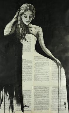 "Saatchi Online Artist: Sara Riches; Ink 2013 Painting ""After The Ball"" #art"