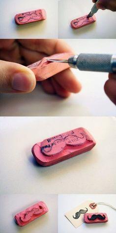 Dentro del top de tendencias para los amantes de las manualidades y el scrapbooking , esta el stamp carving , o lo que es lo mismo el carva...