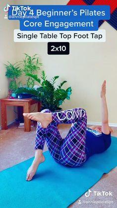 Pilates Challenge, Pilates Workout Routine, Home Exercise Routines, 30 Day Workout Challenge, Ab Workout At Home, Flexibility Workout, Workout Videos, At Home Workouts, Floor Workouts
