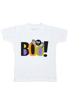 Custom Party Shop Kids Boo Spider Halloween Tshirt