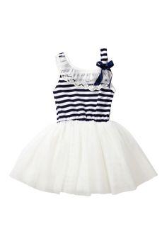 Navy Striped Tutu Dress (Toddler & Little Girls) on HauteLook