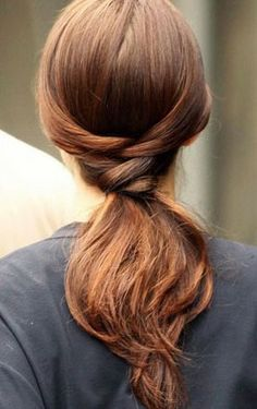 This polished ponytail goes from work to cocktails beautifully!