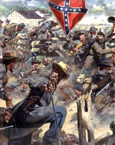 "Gettysburg, 3 July, 1863, ""We suffered very little from the enemy fire until about half way across the field. We climbed a diagonal fence running across the field and we were now greeted by heavy doses of canister. Our men were falling in every direction but we managed to struggle on. About 200 yards from the enemy we reached another fence which confused us considerably. The fire from enemy artillery and infantry were terrible and we were reduced to a mere skirmish line."" H.Moore of the 38th…"